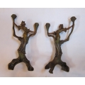 Pair of French Art Nouveay Candle holders