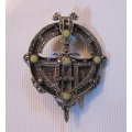 Stylish silver brooch