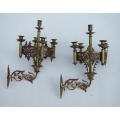 Pair of French candle wall lights