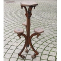 Gothic oak plant stand