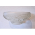 French molded glass bowl