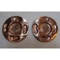 Pair of copper plates